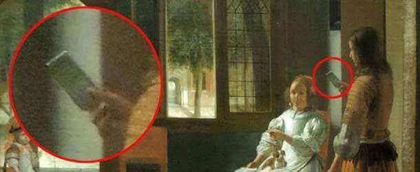 Leonardo Da Vinci (1466) – Pieter de Hooch (1670). The iPhone existed 350 years ago?