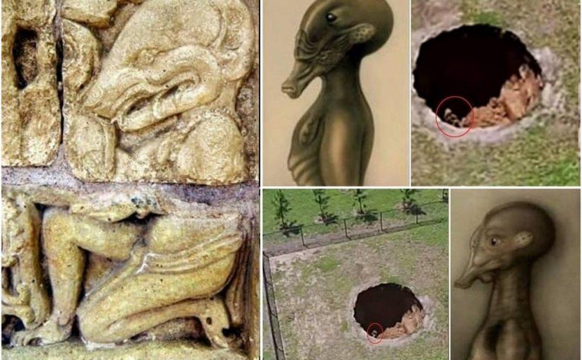Sinkhole swallows alien.Video