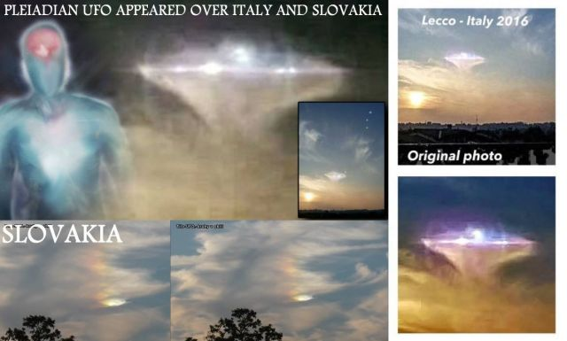 Pleiadian UFO Appeared Over Italy and Slovakia? (Video)