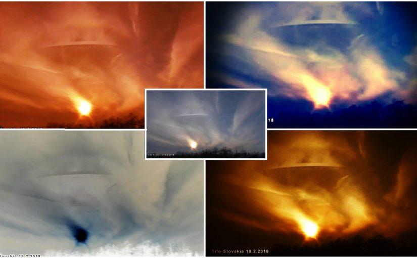 UFO disguised behind a cloud? VIDEOS. 2016-2018