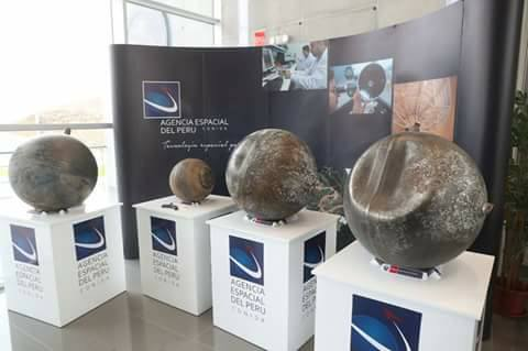 The peruvian Space Agency-CONIDA continues with the study to determine the origin of the five objects fallen from space in Puno, last january
