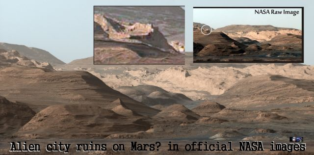 Alien City Ruins on Mars? In Official NASA Images!
