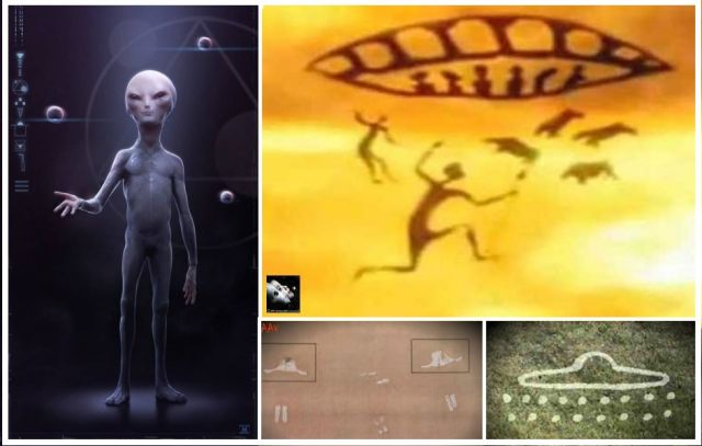 According to archaeologists visited us aliens. indicate the cave paintings discovered in INDIA!