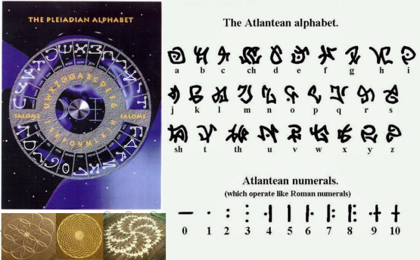 Xenolinguistics Alien alphabet: Orion, Pleiades, Sirius, Atlantida !