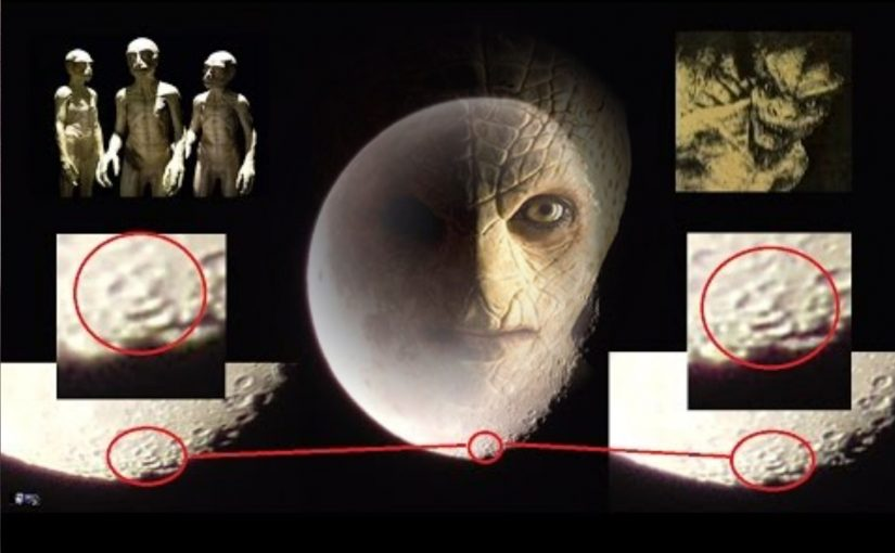 VIDEO: Face, the alien and UFO on the Moon? Reptilians They have their base on the Moon?