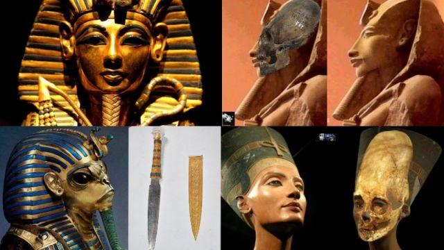 Dagger of Tutankhamun  has an alien origin.