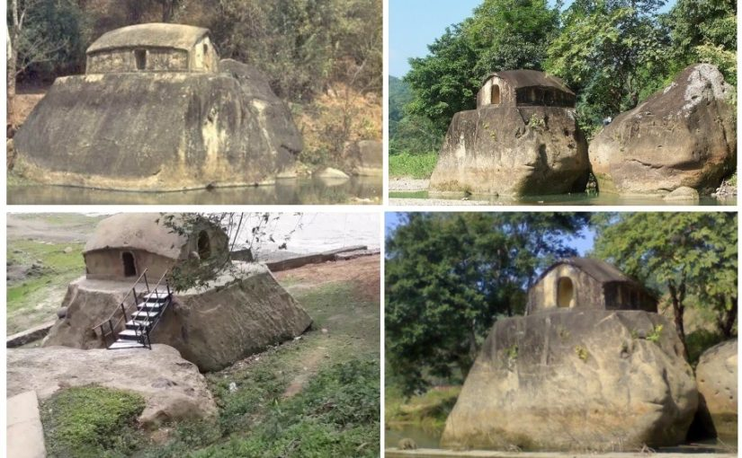 Video: The stone house at Maibong town, on the bank of the Mahur.