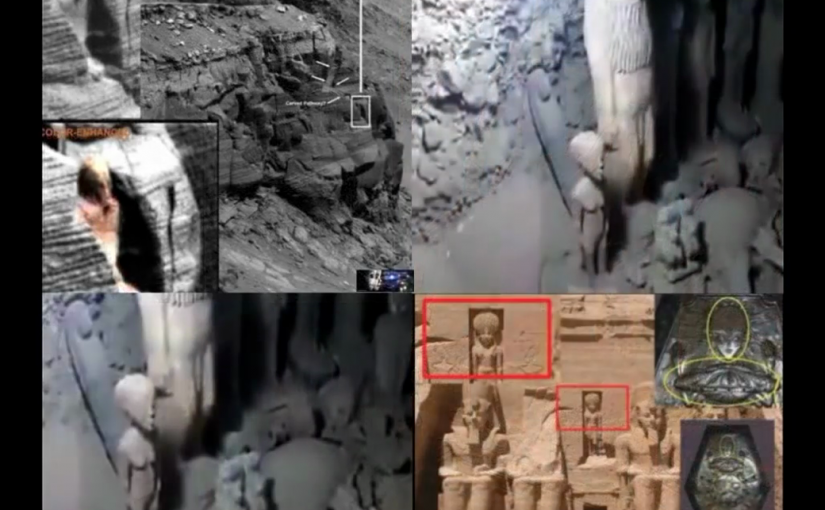 VIDEO:A mysterious statue:  on Mars and in Egyptian tomb. Alien head or vulgar rock ..