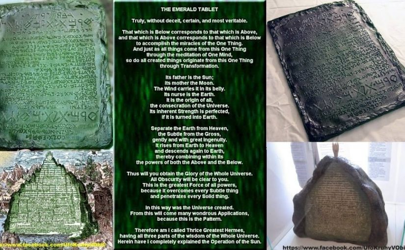 Tablet of Hermes – Emerald plate and its secrets and Crop Circles.