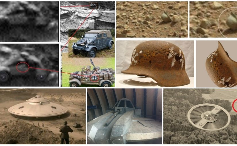 Stories about Nazi UFO technology. Nazis have been on the Mars and Moon since the late 1940's?