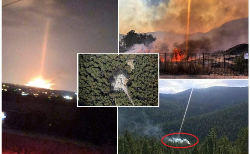 Photo:Looks like a laser from heaven caused this flare up. Evidence of a Direct Energy Weapon (DEW)?