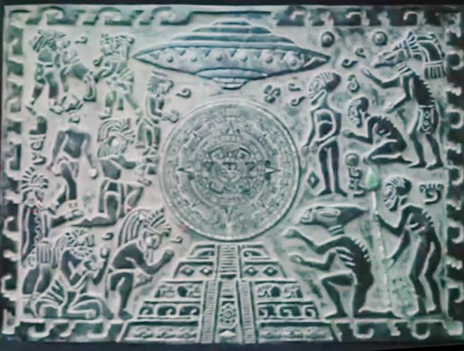 NEW PHOTOS: Artifacts about aliens, evidence of Mayan contact with extraterrestrials.