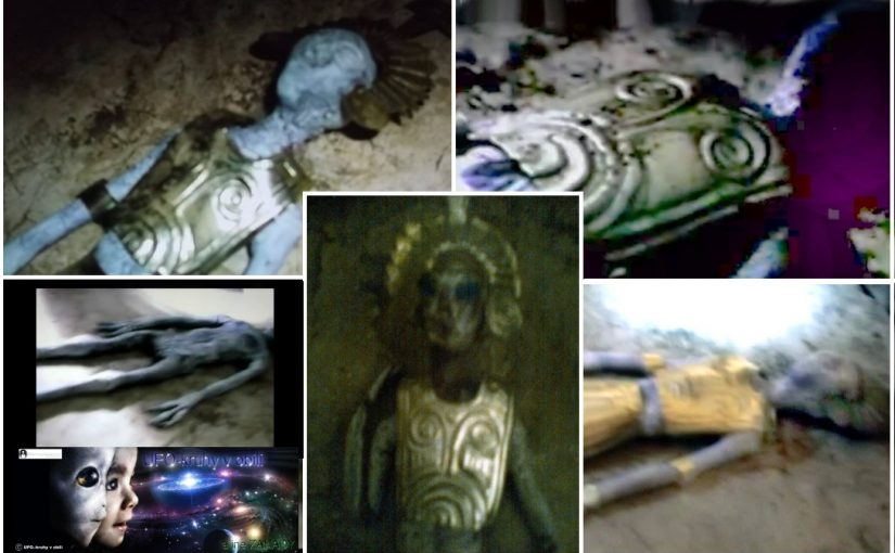 A new PHOTOS  of the mummified bodies of aliens found in a cave on the Nazca Plateau.