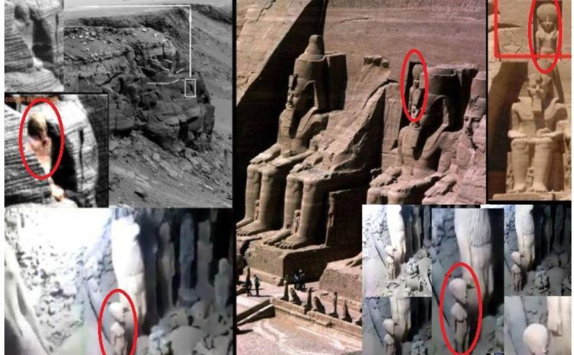 A mysterious statue on Mars and in the Egyptian tomb. Maybe an Alien?