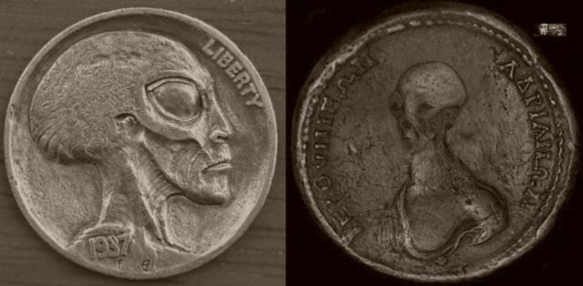 There were really an aliens? Evidence was found in the ancient coins. Video