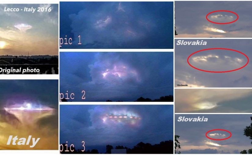 New Video: UFO camouflage PLEIADIAN UFO? filmed in ITALY AND SLOVAKIA .