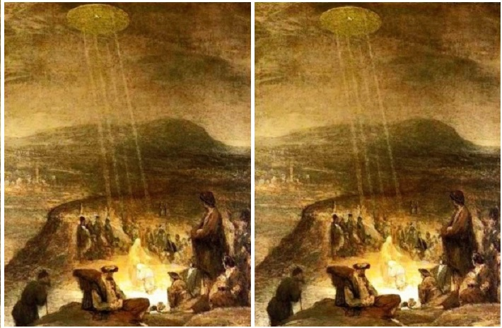 """WARNING ! THIS IS NOT A FAKE! The Christmas painting, made from 1710 and titled """"The Baptism of Jesus,"""""""