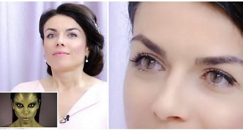 VIDEO: Russian presenter Zhanna reveals her reptilian identity live. Allatra!