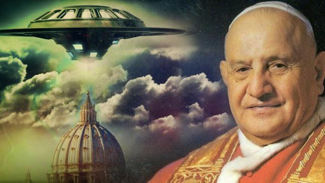 PHOTO: Pope John XXIII: The Pope and contact with a man who came on a UFO ship.