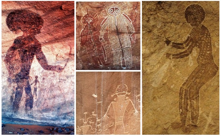 One of the greatest archeological enigmas in the world is that of the strange cave paintings, 10,000 years old.
