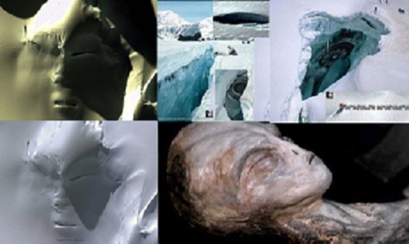 Video: Gigantic. Discover a huge face alien in Antarctica using Google Earth .